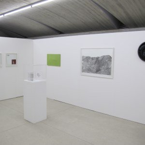 Vue de l'exposition: Peter Downsbrough, Michel Mouffe, Ann Veronica Janssens, Eva Evrard, Hein Fridfinnsson